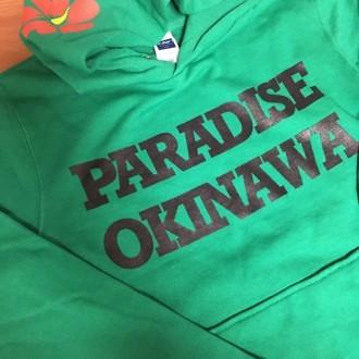 PARADISE OKINAWA かぶりパーカー