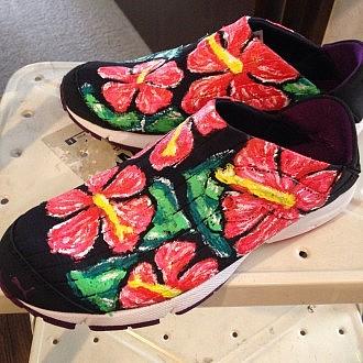 靴にも絵付け出来ます。