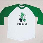 fresh58 七分袖のラグラン
